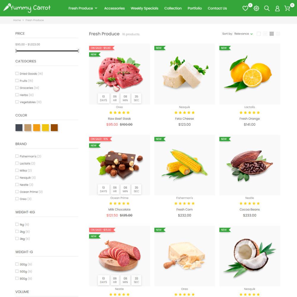 theme - Alimentos & Restaurantes - Yummy Carrot - Food & Restaurant, Organic, Wine, Coffee - 4