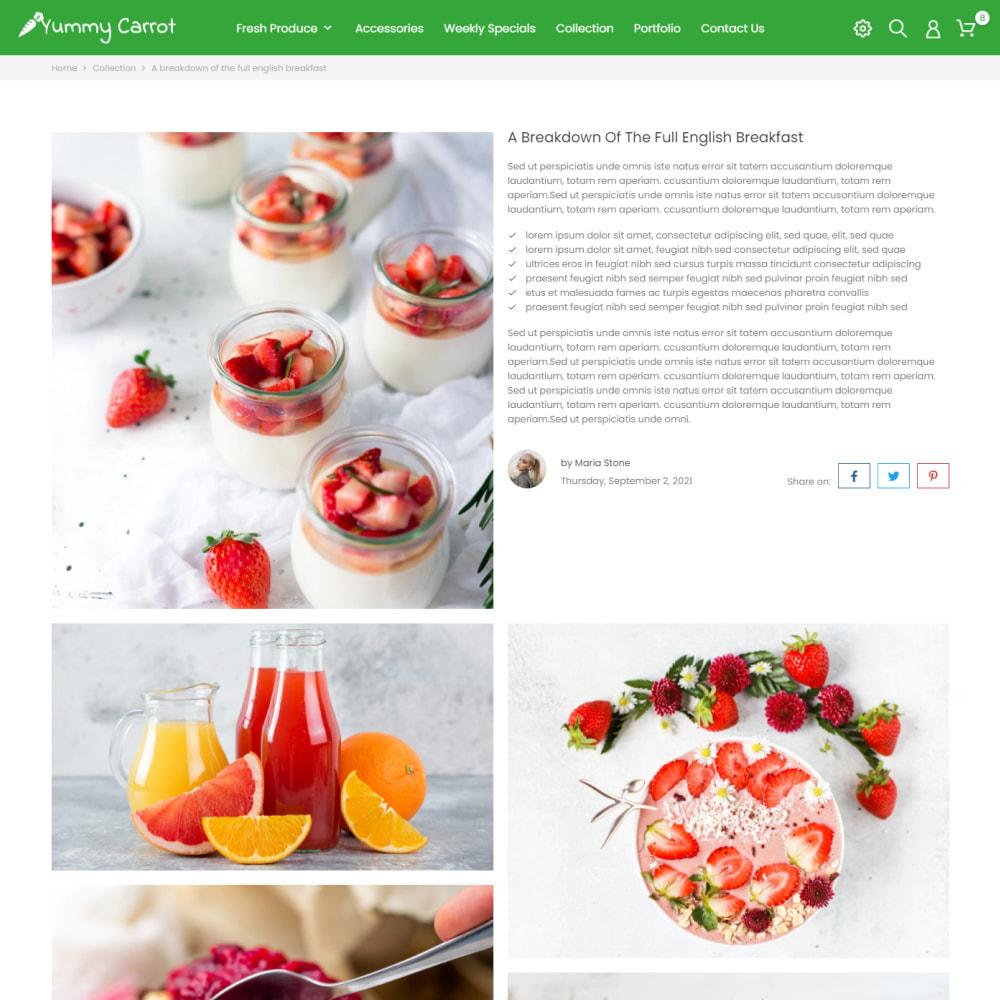 theme - Alimentos & Restaurantes - Yummy Carrot - Food & Restaurant, Organic, Wine, Coffee - 6