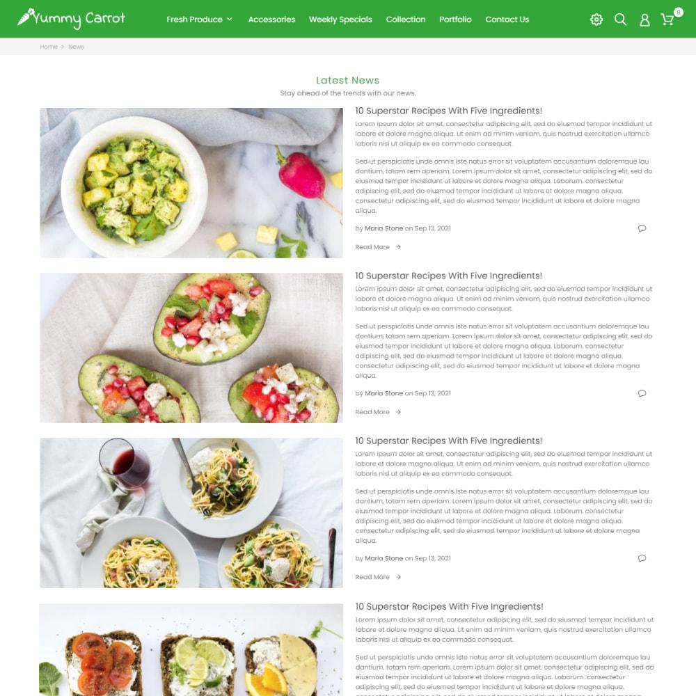 theme - Alimentos & Restaurantes - Yummy Carrot - Food & Restaurant, Organic, Wine, Coffee - 8