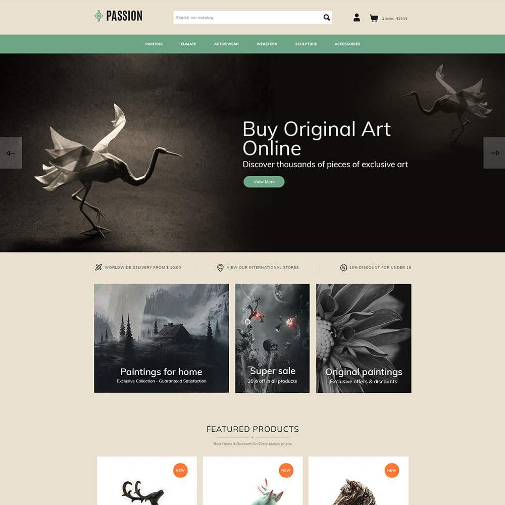 theme - Kultura & Sztuka - Passion Art  - Paint Handcraft Statue Store - 2