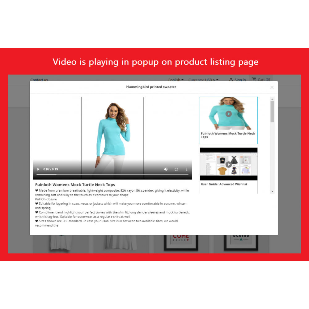 module - Videos & Music - Product Video (Youtube, Vimeo, Link, Upload) + SEO - 1