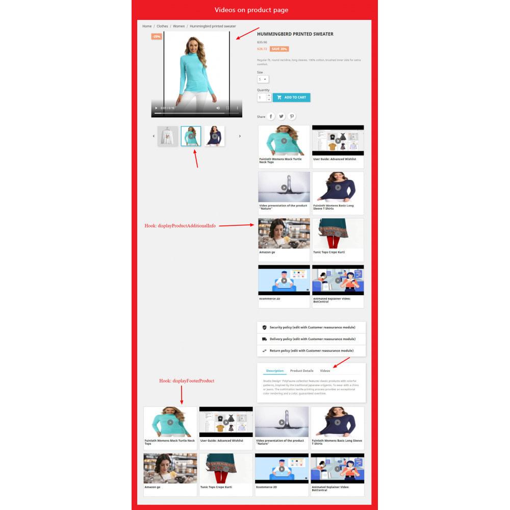 module - Videos & Music - Product Video (Youtube, Vimeo, Link, Upload) + SEO - 2