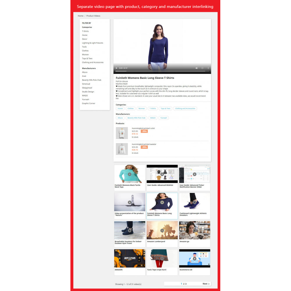 module - Videos & Music - Product Video (Youtube, Vimeo, Link, Upload) + SEO - 3