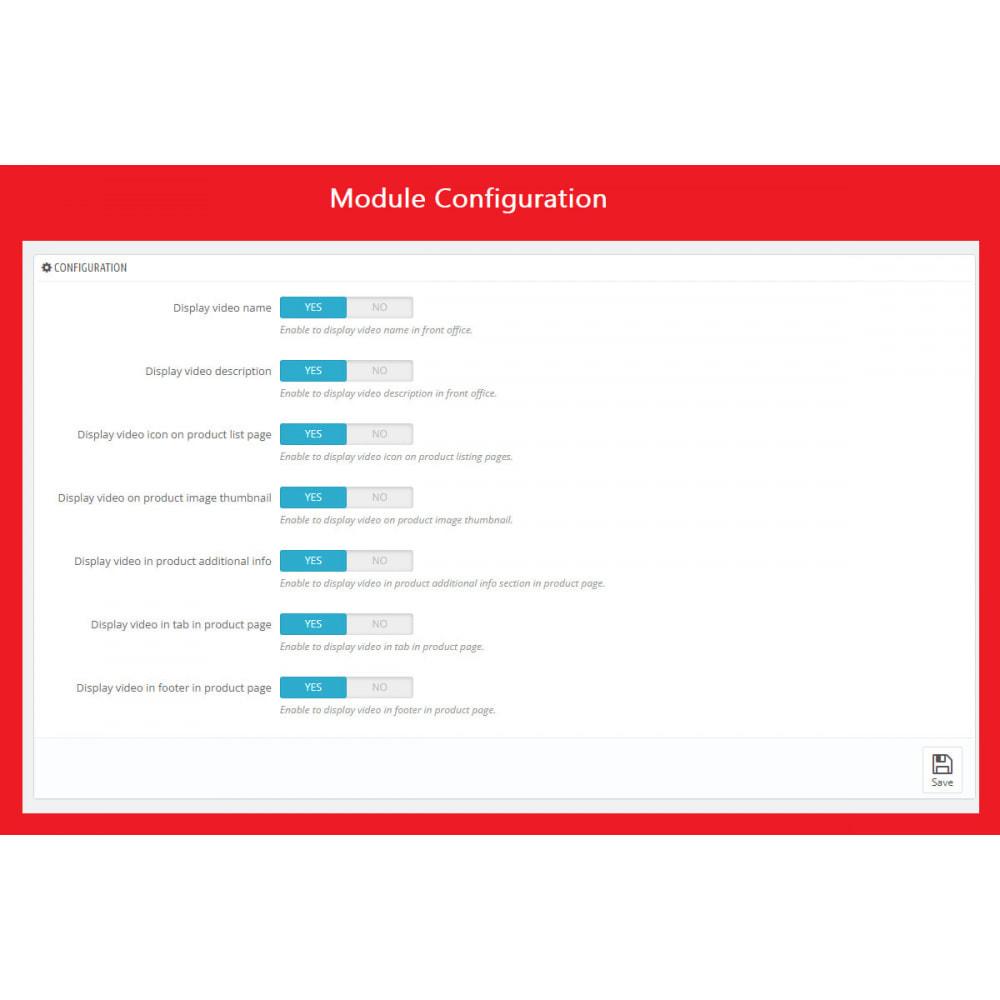 module - Videos & Music - Product Video (Youtube, Vimeo, Link, Upload) + SEO - 9