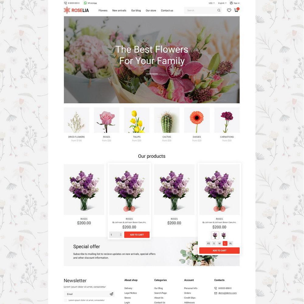 theme - Presentes, Flores & Comemorações - Roselia - 11