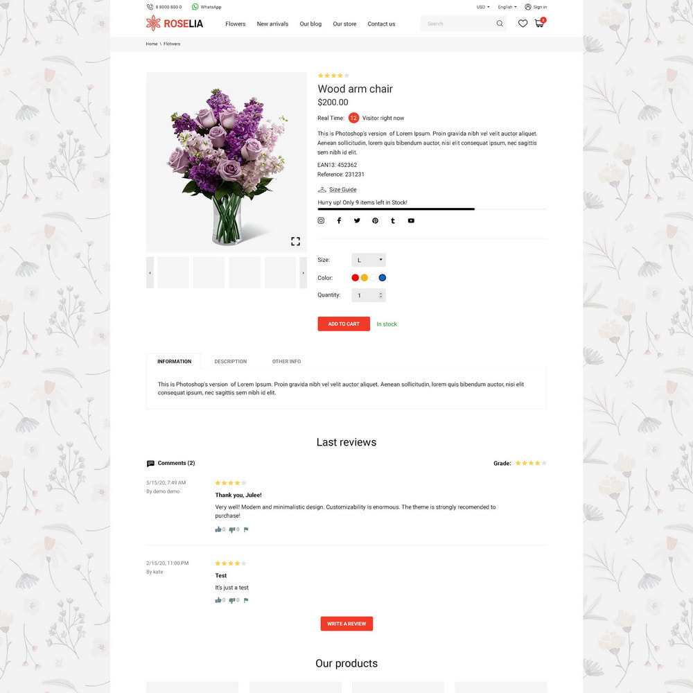 theme - Presentes, Flores & Comemorações - Roselia - 13