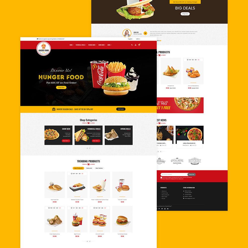 theme - Alimentation & Restauration - Gusto Food & Restaurants - 6