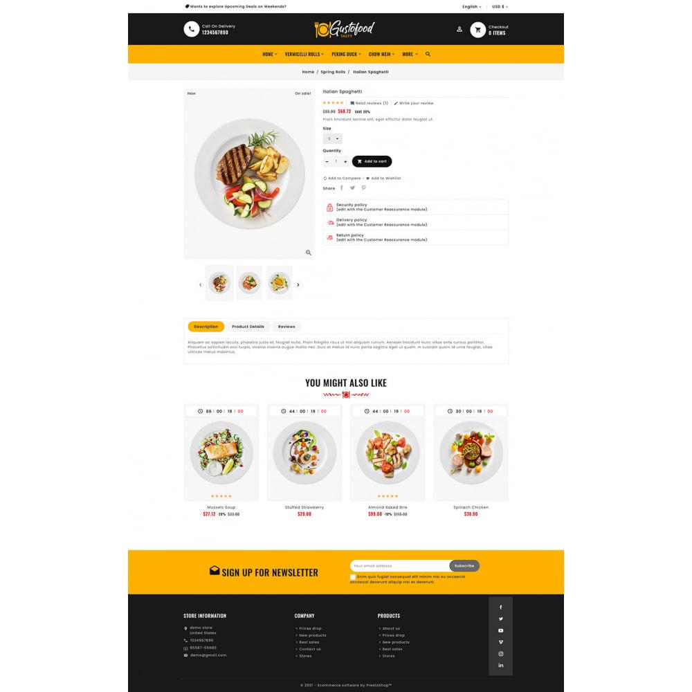 theme - Alimentation & Restauration - Gusto Food & Restaurants - 9