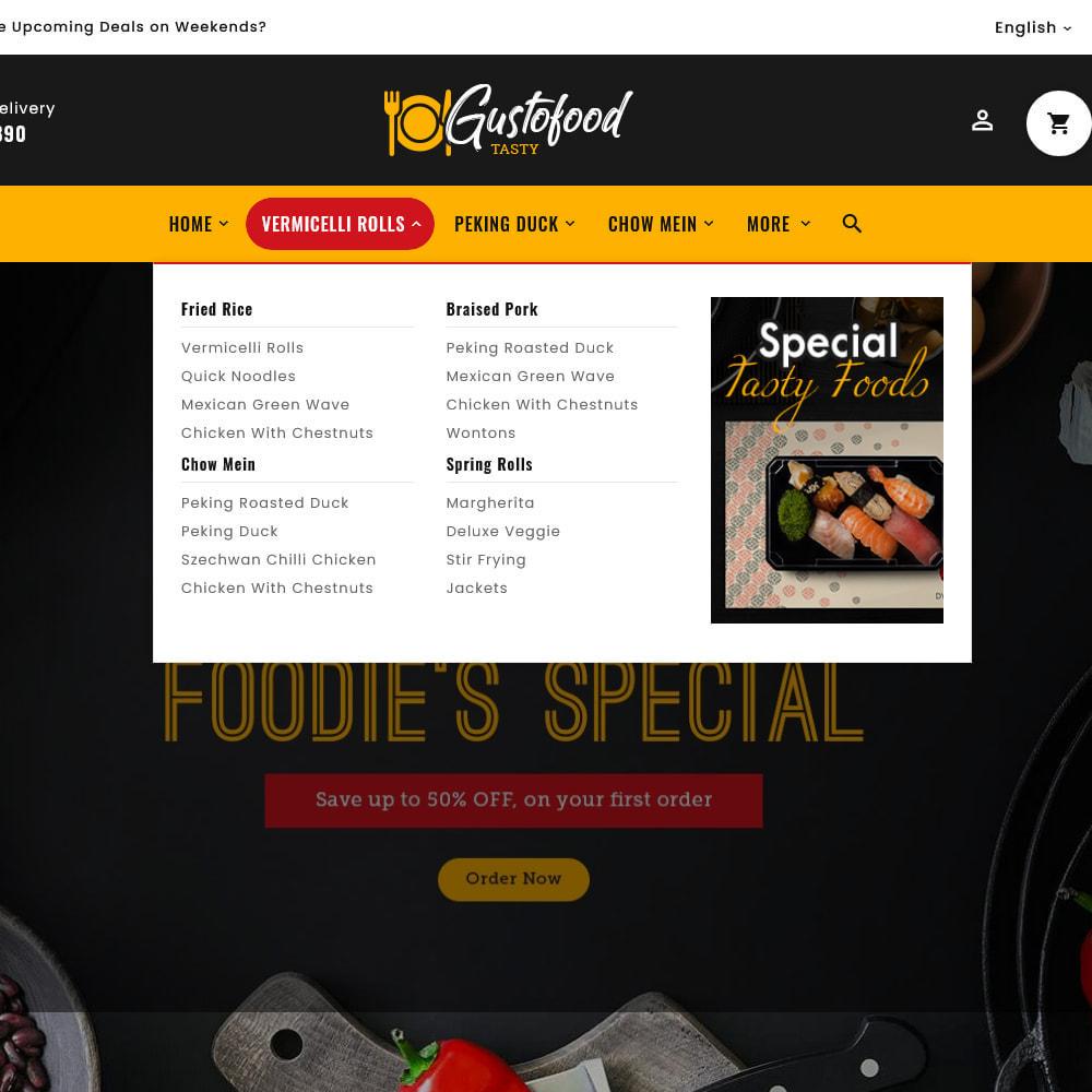 theme - Alimentation & Restauration - Gusto Food & Restaurants - 13