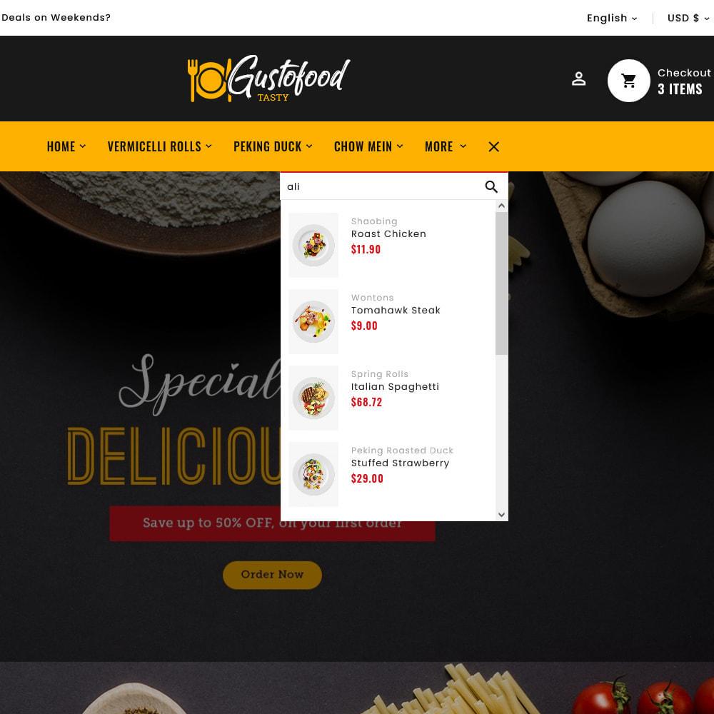 theme - Alimentation & Restauration - Gusto Food & Restaurants - 14