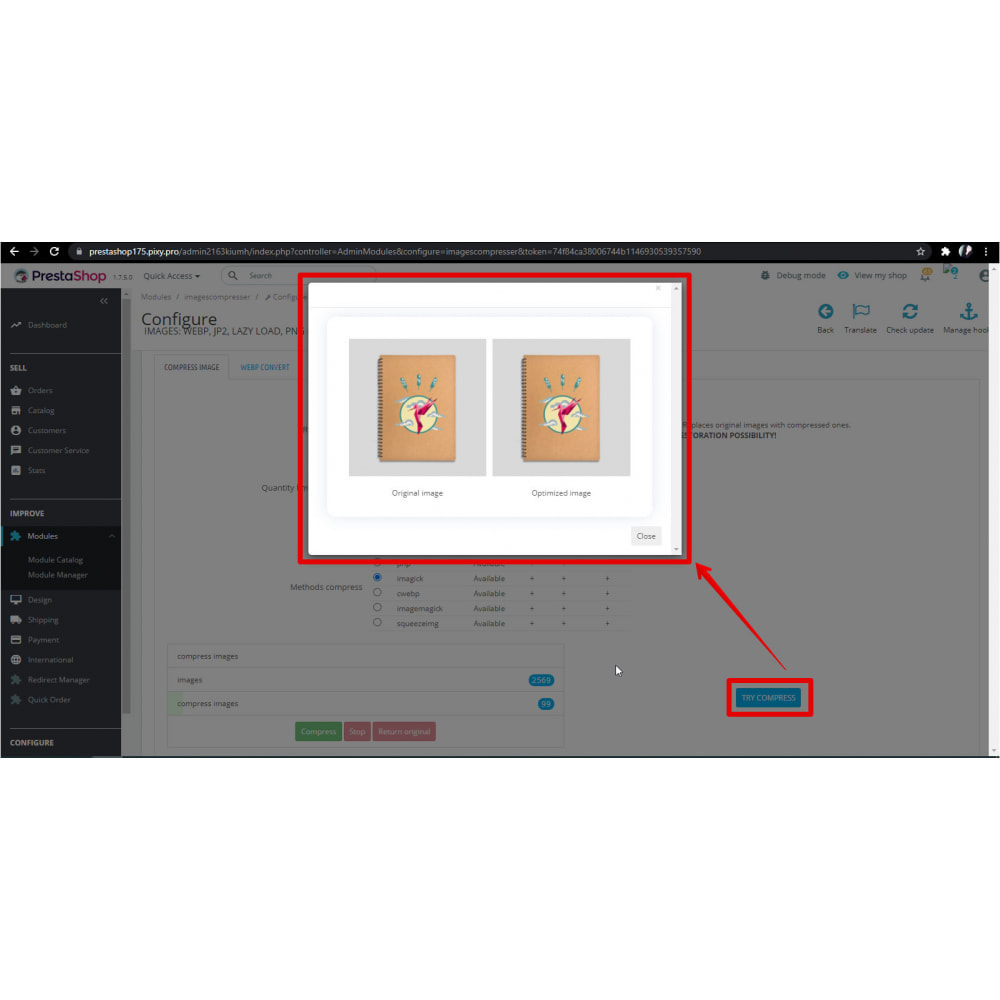 module - Visual Products - Image Convert: webp, jp2, lazy load, png & jpg compress - 6