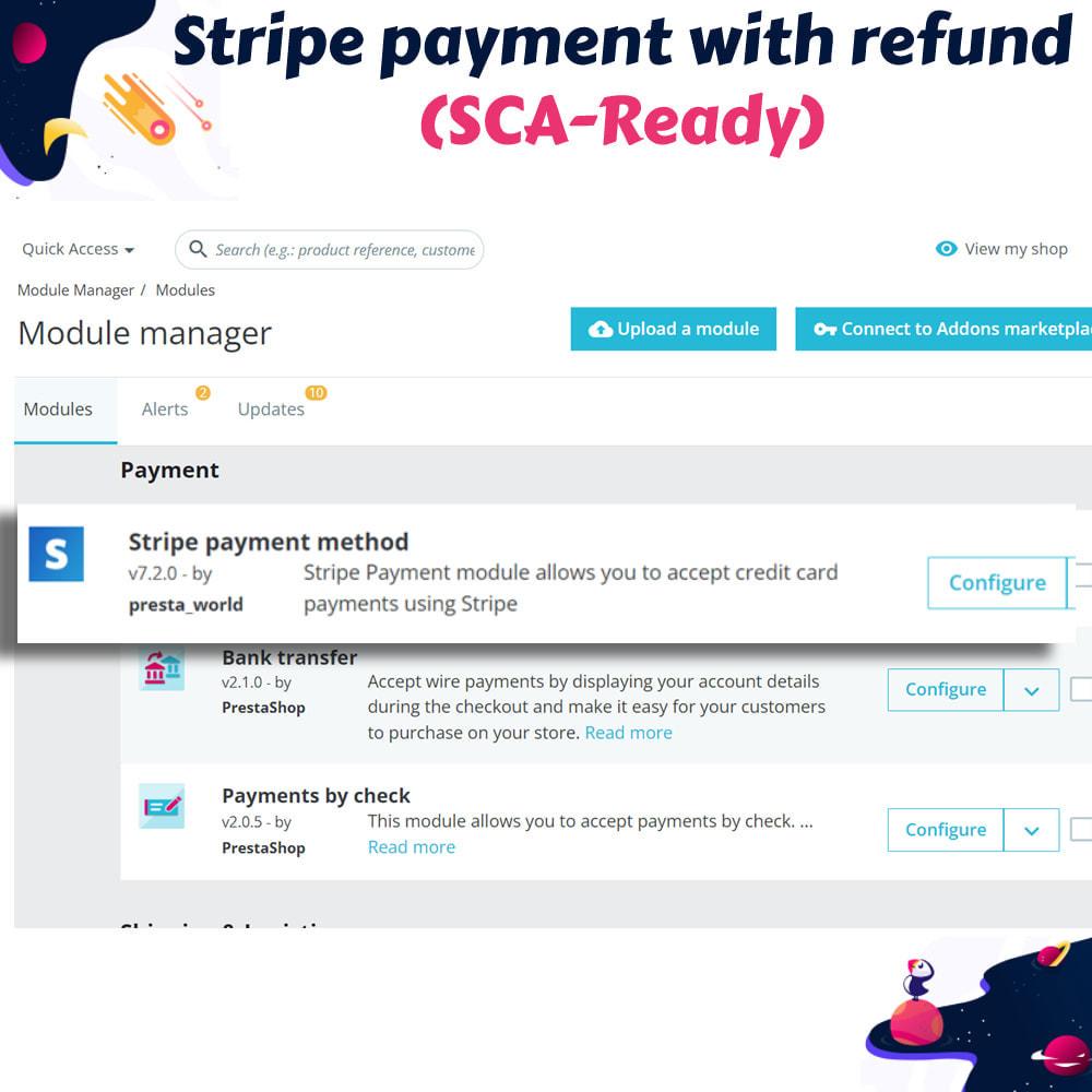 module - Оплата банковской картой или с помощью электронного кошелька - Stripe payment with refund (SCA-Ready) - 2