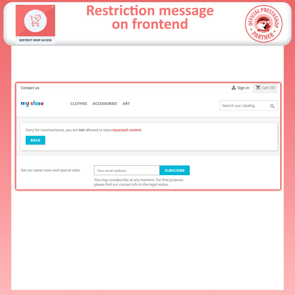 module - Security & Access - Restrict Access to Shop By IP, Country & User Agent - 2