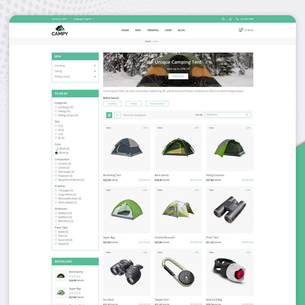 theme - Sports, Activities & Travel - Campy - Trekking Store - 3