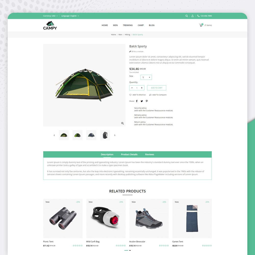 theme - Sports, Activities & Travel - Campy - Trekking Store - 4