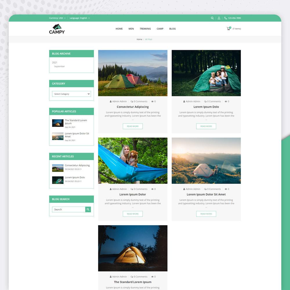 theme - Sports, Activities & Travel - Campy - Trekking Store - 5