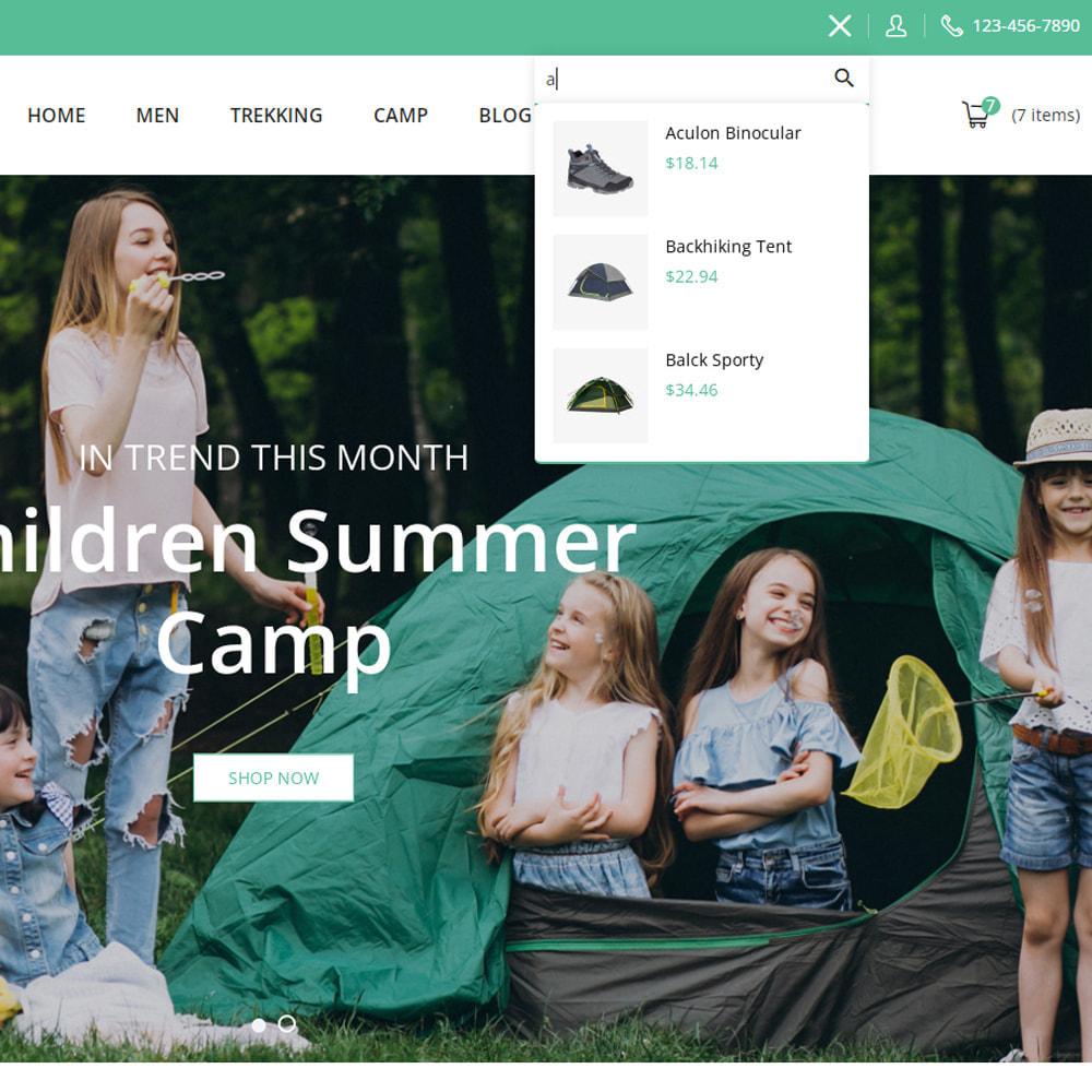 theme - Sports, Activities & Travel - Campy - Trekking Store - 9