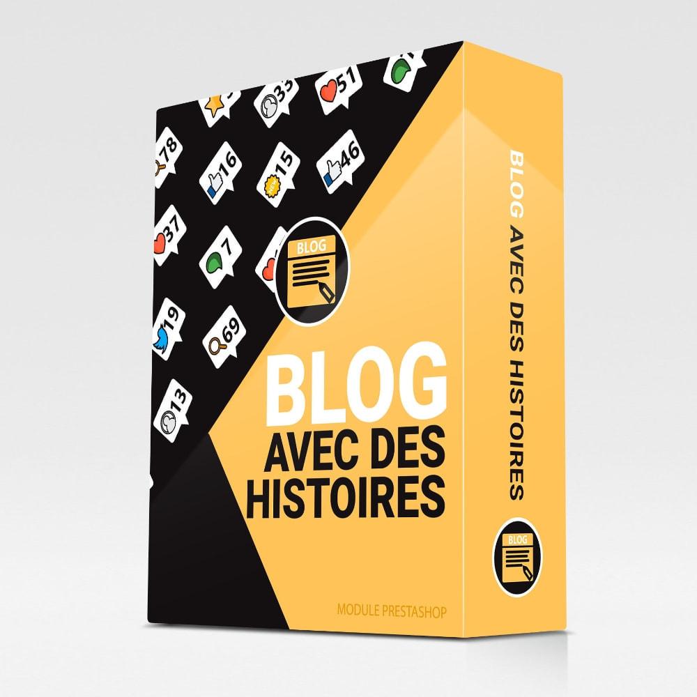 module - Blog, Forum & Actualités - Blog avec des histoires - 1