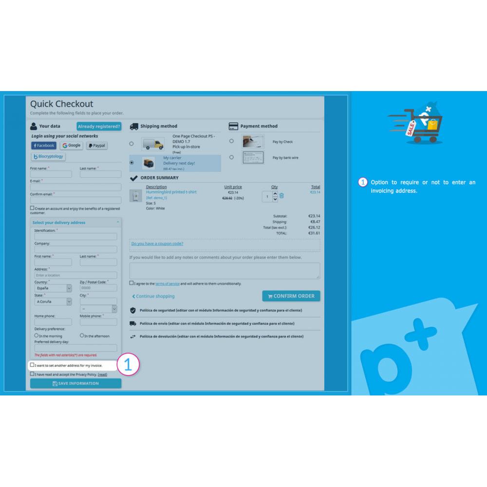 module - Processo de pedido - One Page Checkout PS (Easy, Fast & Intuitive) - 6