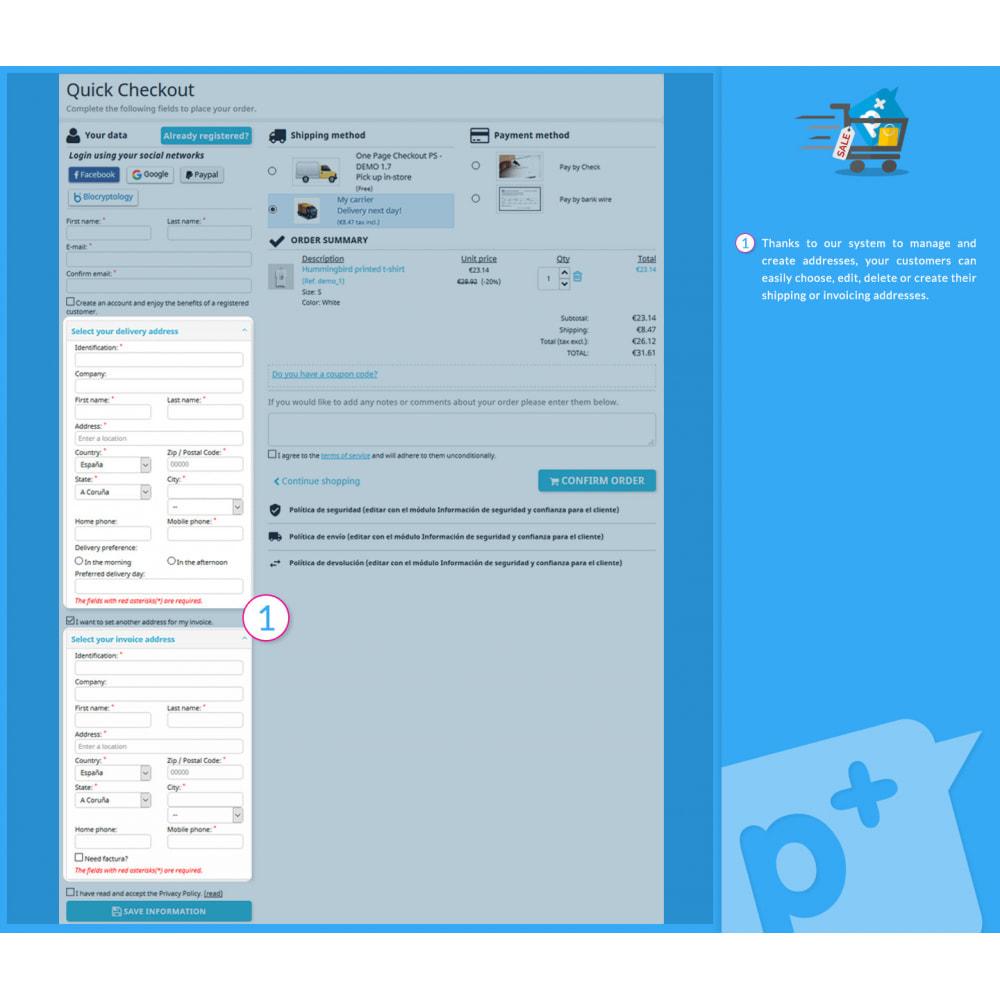module - Processo de pedido - One Page Checkout PS (Easy, Fast & Intuitive) - 8