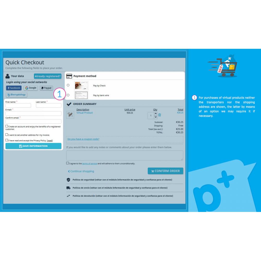 module - Processo de pedido - One Page Checkout PS (Easy, Fast & Intuitive) - 11