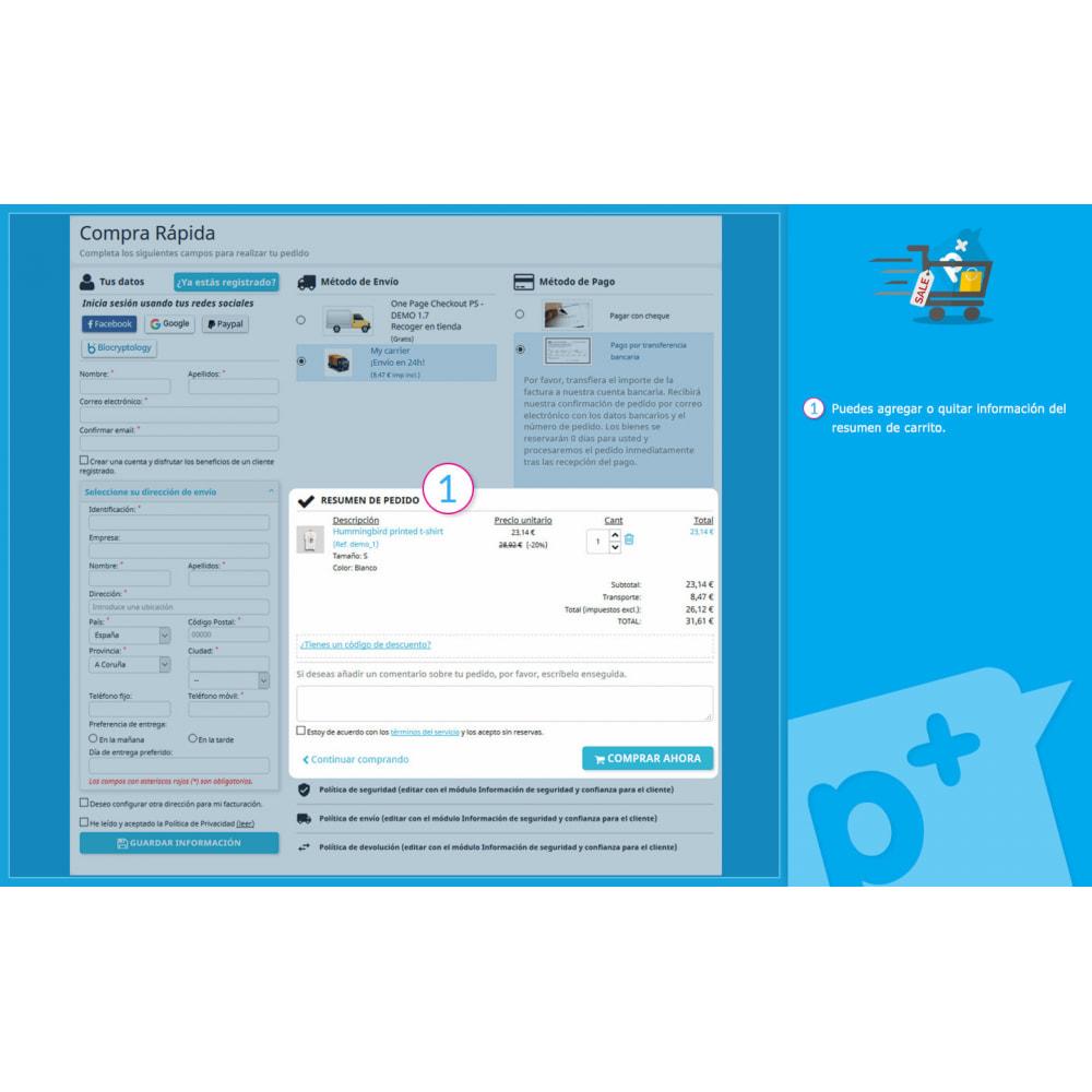 module - Proceso rápido de compra - One Page Checkout PS (Fácil, Rápido e Intuitivo) - 10