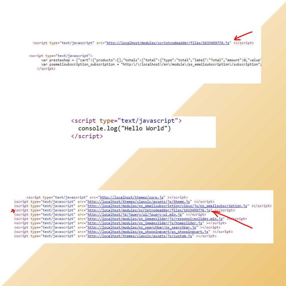 module - Pегистрации и оформления заказа - Script Code Adder - 3