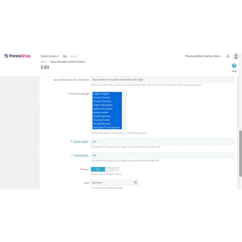 module - Dialoogvensters & Pop-ups - Toon pop-upbericht en omleidingslinks op basis van land - 3