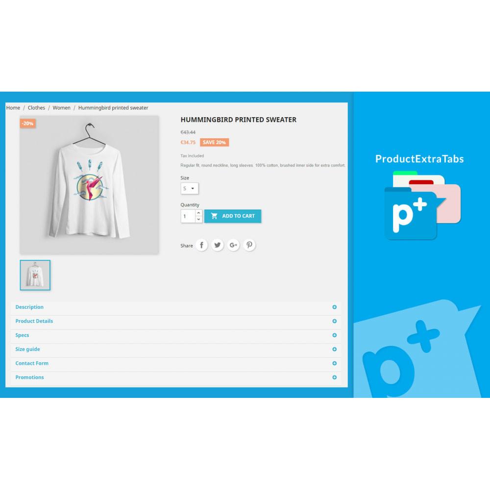 module - Zusatzinformationen & Produkt-Tabs - Product Extra Tabs - Tabs additional information - 1