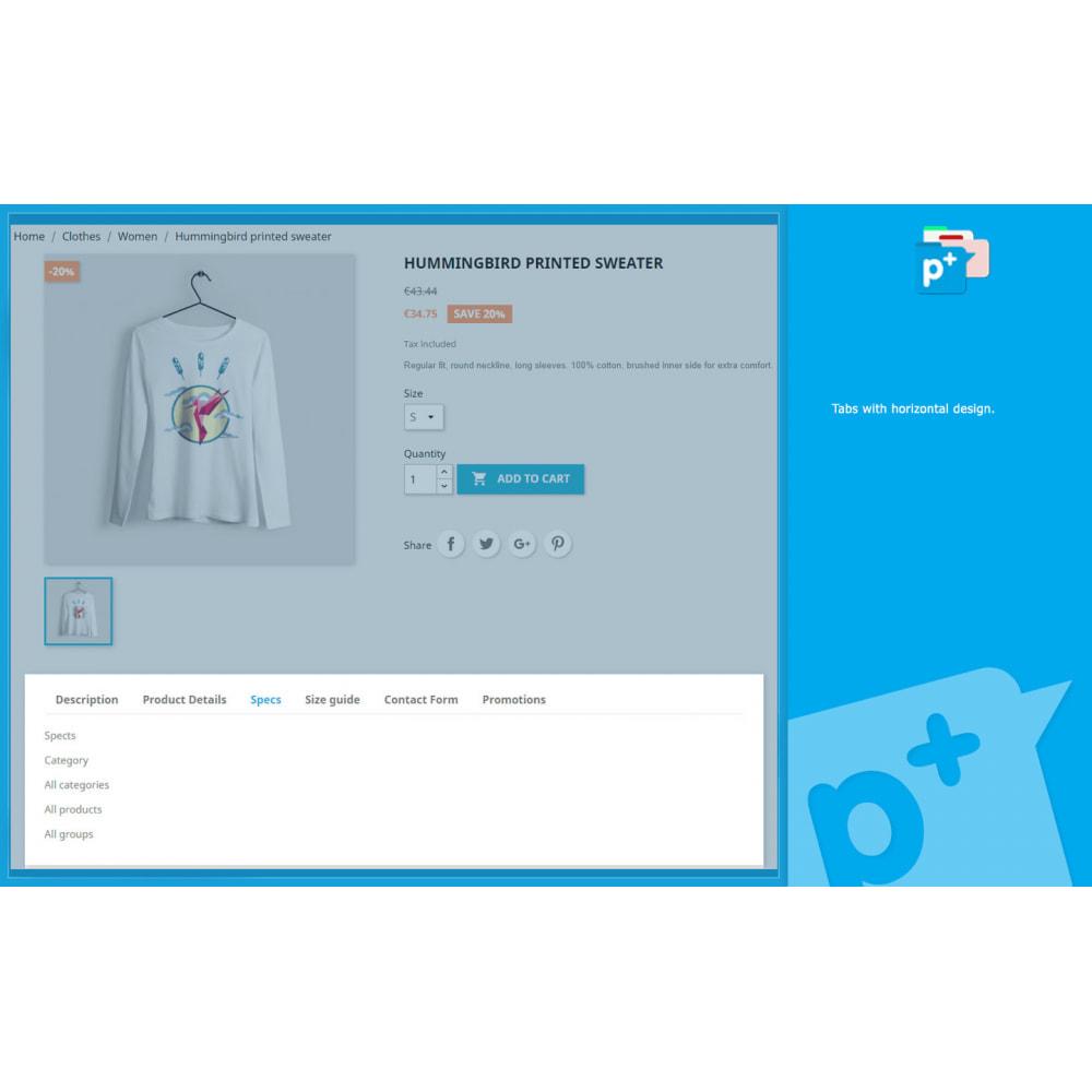 module - Zusatzinformationen & Produkt-Tabs - Product Extra Tabs - Tabs additional information - 3