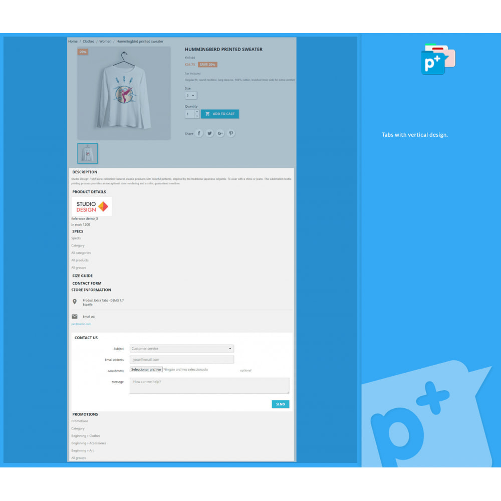 module - Zusatzinformationen & Produkt-Tabs - Product Extra Tabs - Tabs additional information - 4