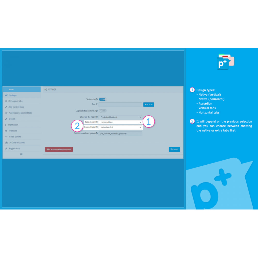 module - Zusatzinformationen & Produkt-Tabs - Product Extra Tabs - Tabs additional information - 8