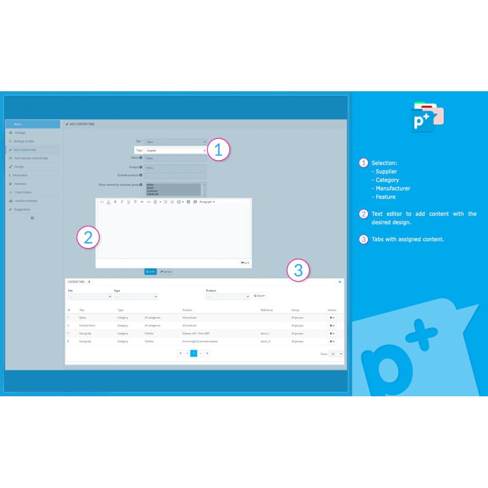 module - Zusatzinformationen & Produkt-Tabs - Product Extra Tabs - Tabs additional information - 10