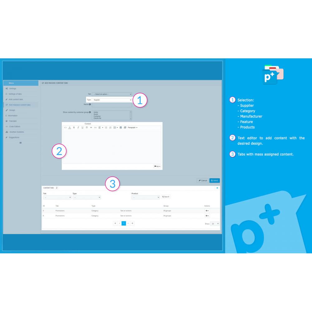 module - Zusatzinformationen & Produkt-Tabs - Product Extra Tabs - Tabs additional information - 12