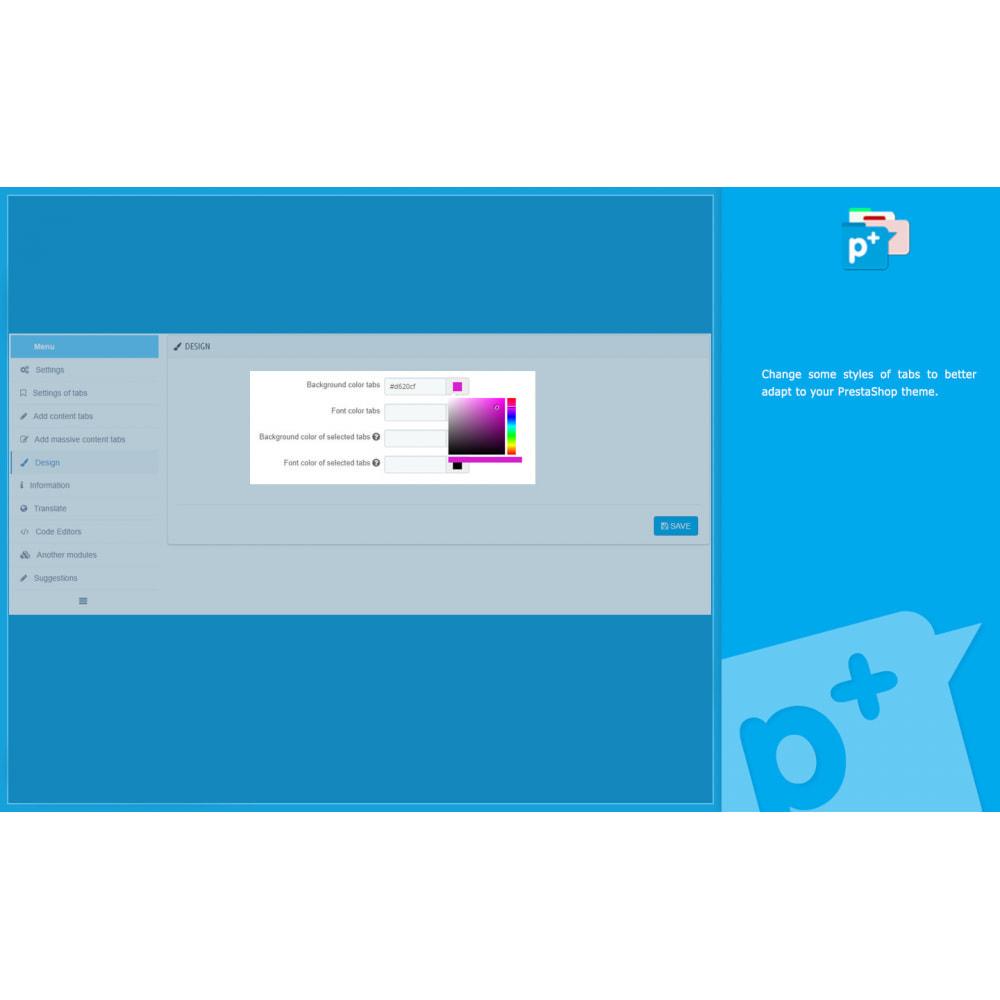 module - Zusatzinformationen & Produkt-Tabs - Product Extra Tabs - Tabs additional information - 13