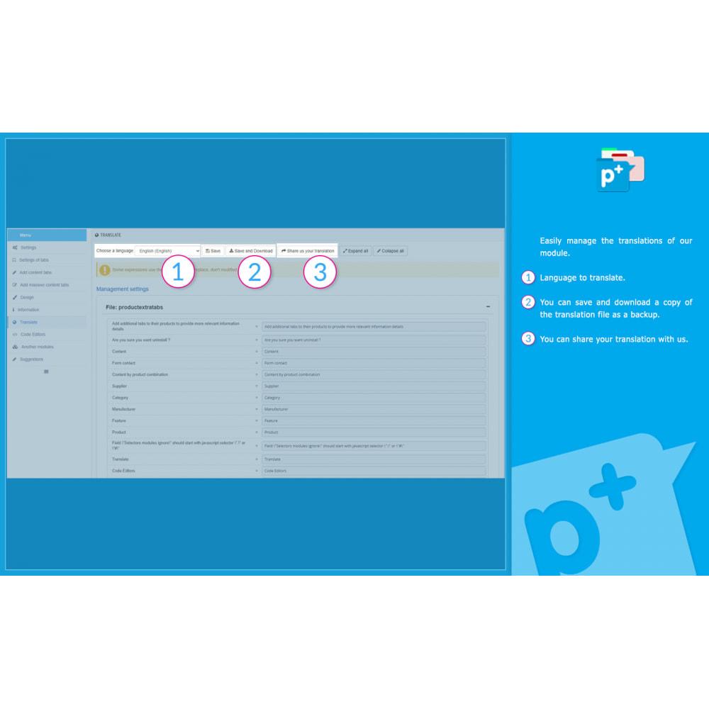 module - Zusatzinformationen & Produkt-Tabs - Product Extra Tabs - Tabs additional information - 15