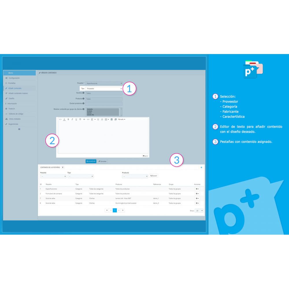 module - Informaciones adicionales y Pestañas - Product Extra Tabs - Pestañas informativas adicionales - 10