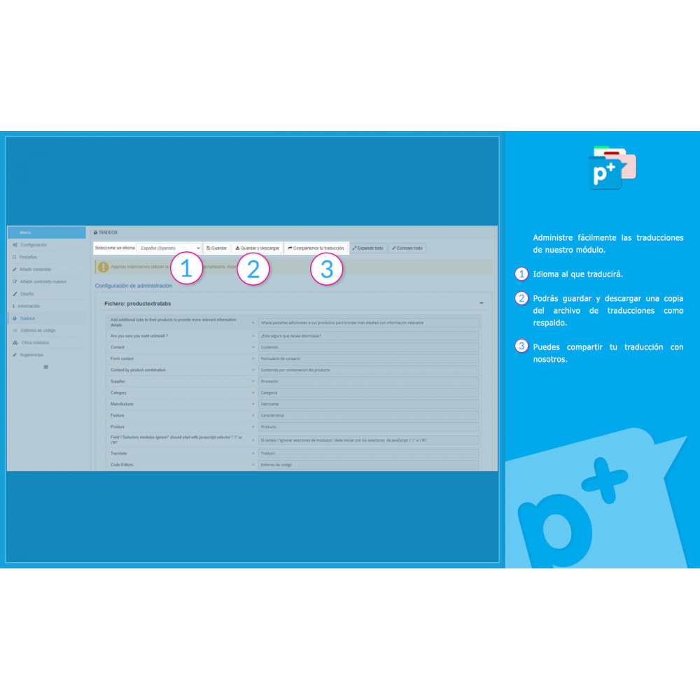 module - Informaciones adicionales y Pestañas - Product Extra Tabs - Pestañas informativas adicionales - 15