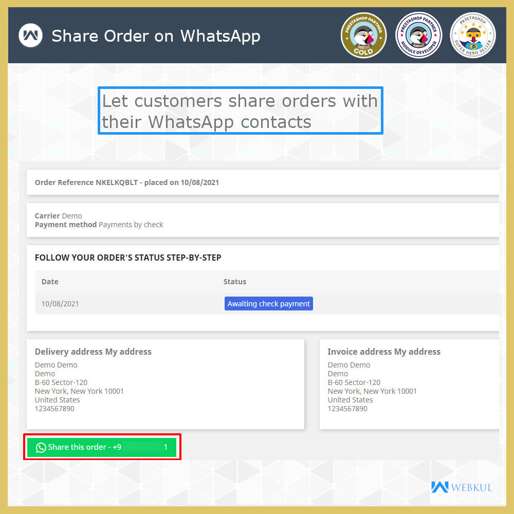 module - Supporto & Chat online - WhatsApp Live Chat | WhatsApp Share | WhatsApp Support - 5