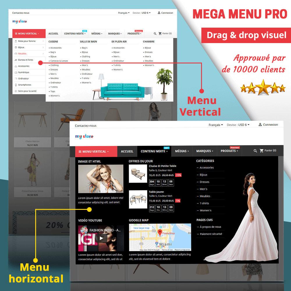 module - Menu - Mega Menu PRO – Drag & drop visuel - 1
