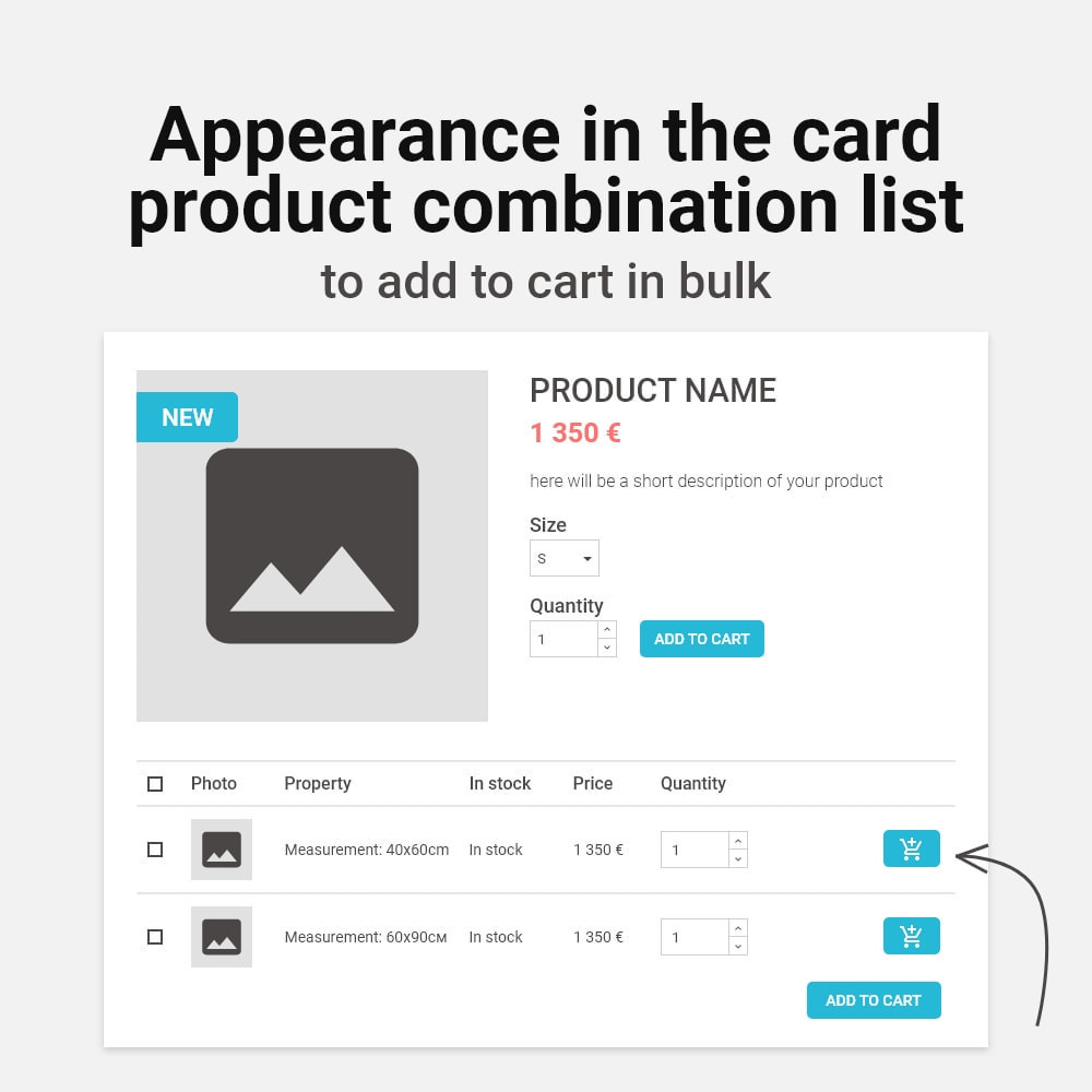 module - Page Customization - Add multiple to cart products combinations - 2