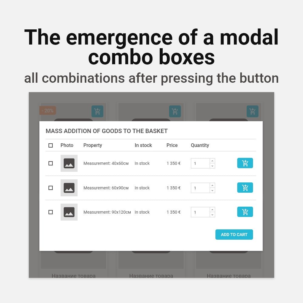 module - Page Customization - Add multiple to cart products combinations - 4