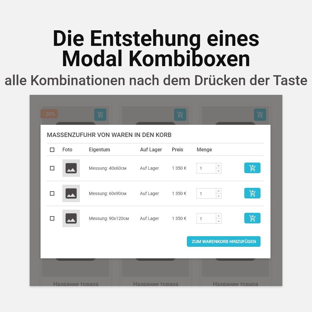 module - Individuelle Seitengestaltung - Mehrfaches Hinzufügen von Kombinationen zum Warenkorb - 4
