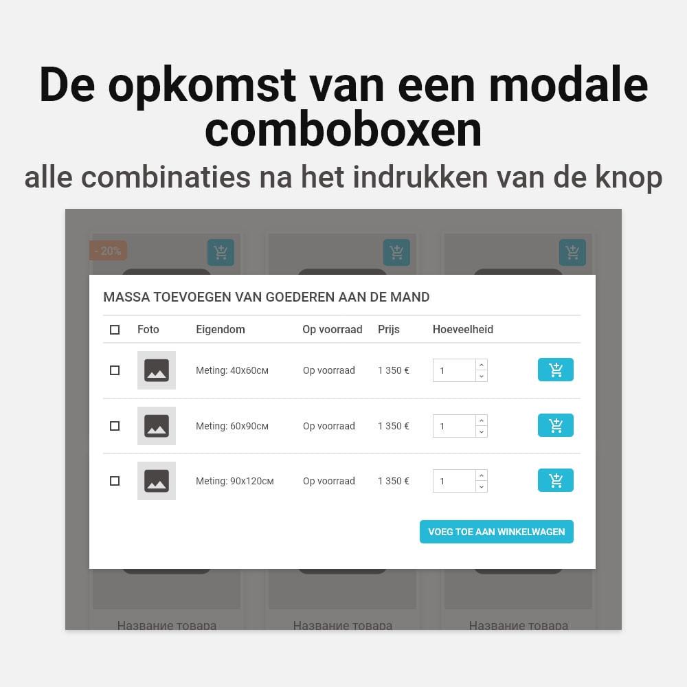 module - Personalisering van pagina's - Meerdere combinaties aan winkelwagen toevoegen - 4
