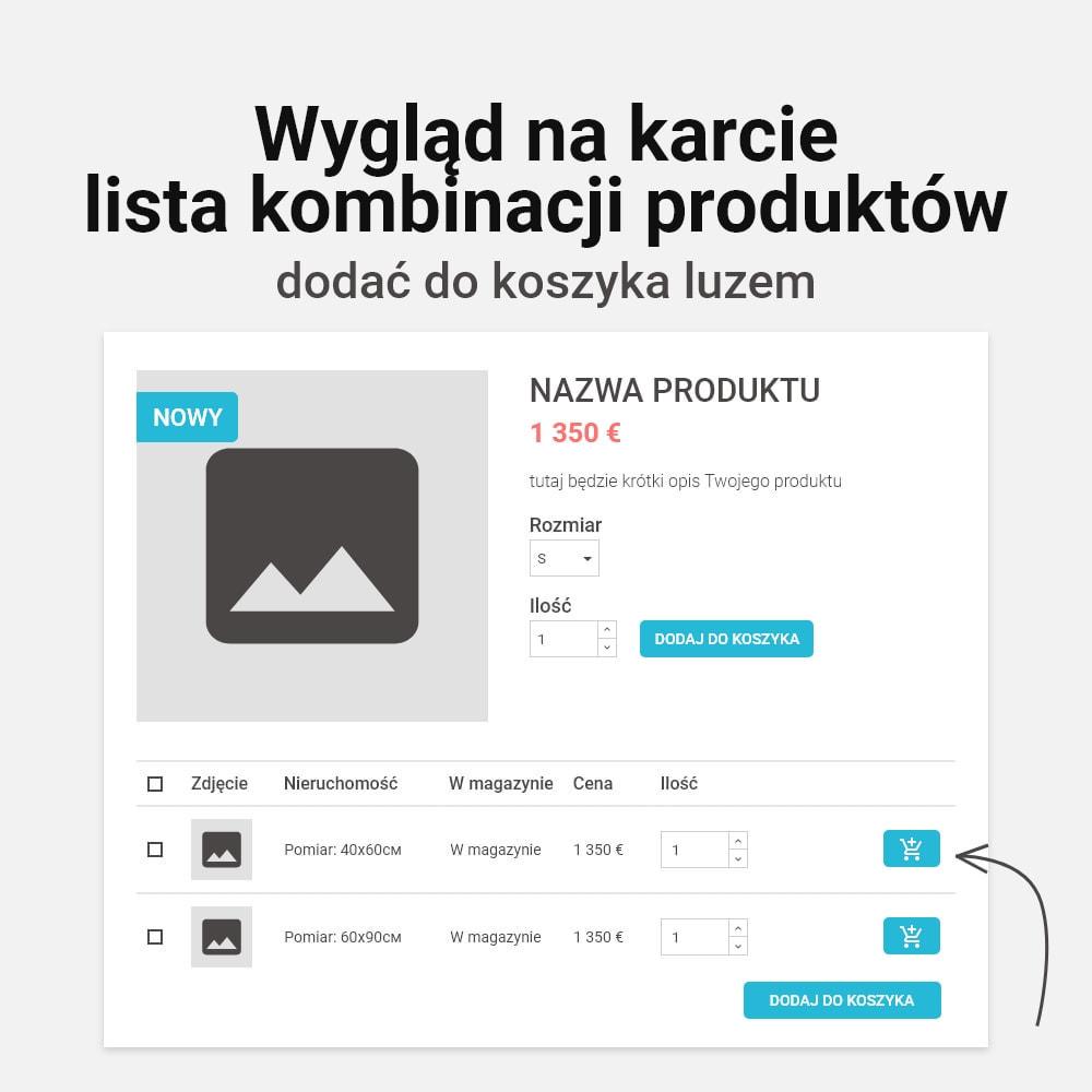 module - Personalizacja strony - Wielokrotne dodawanie kombinacji do koszyka - 2
