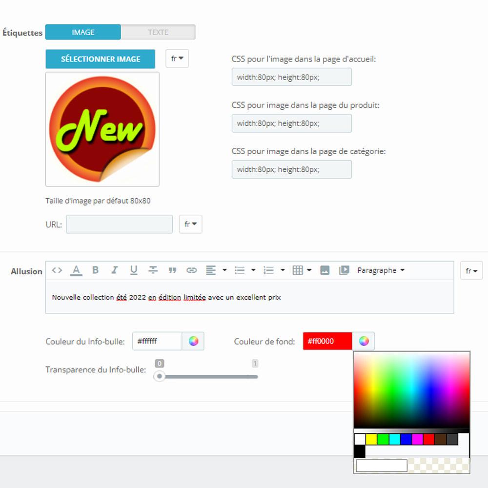 module - Etiquettes & Logos - Autocollants et étiquettes sur les produits - 10