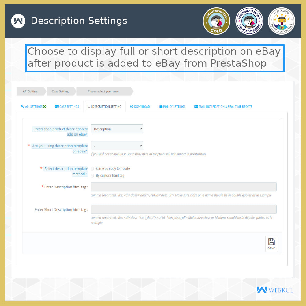 module - Marketplace - eBay Connector | Import/Export eBay Products - 5
