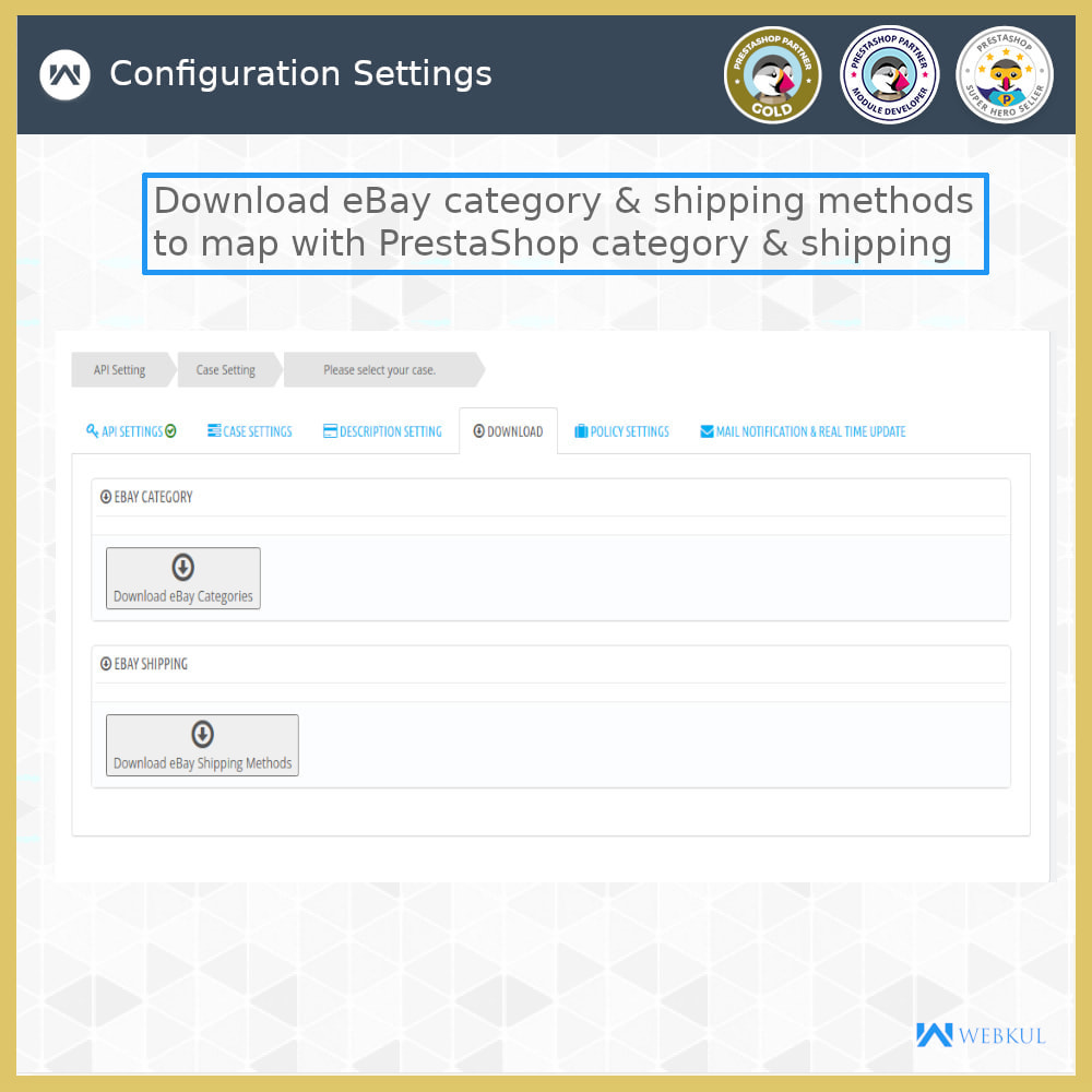 module - Marketplace - eBay Connector | Import/Export eBay Products - 6
