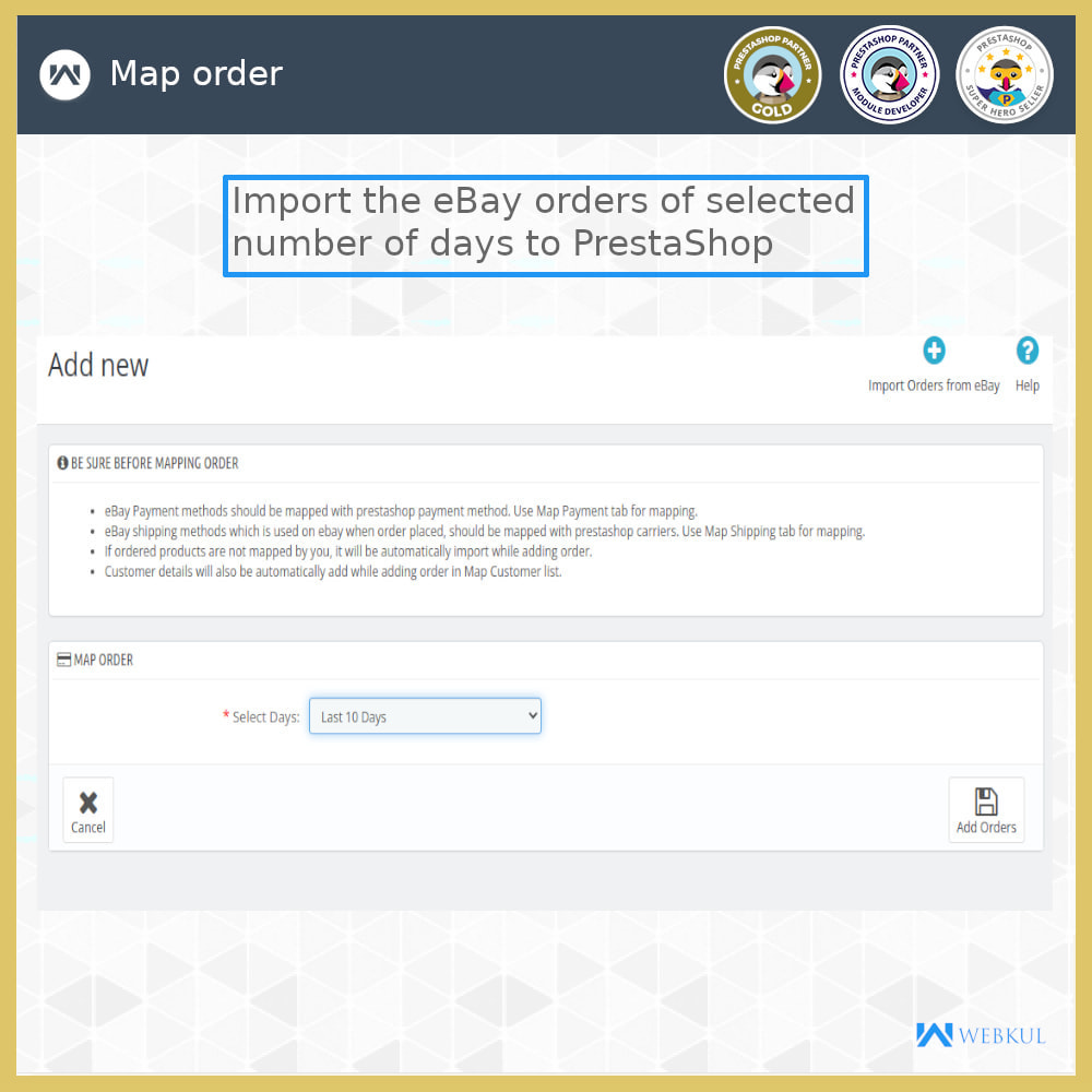 module - Marketplace - eBay Connector | Import/Export eBay Products - 13
