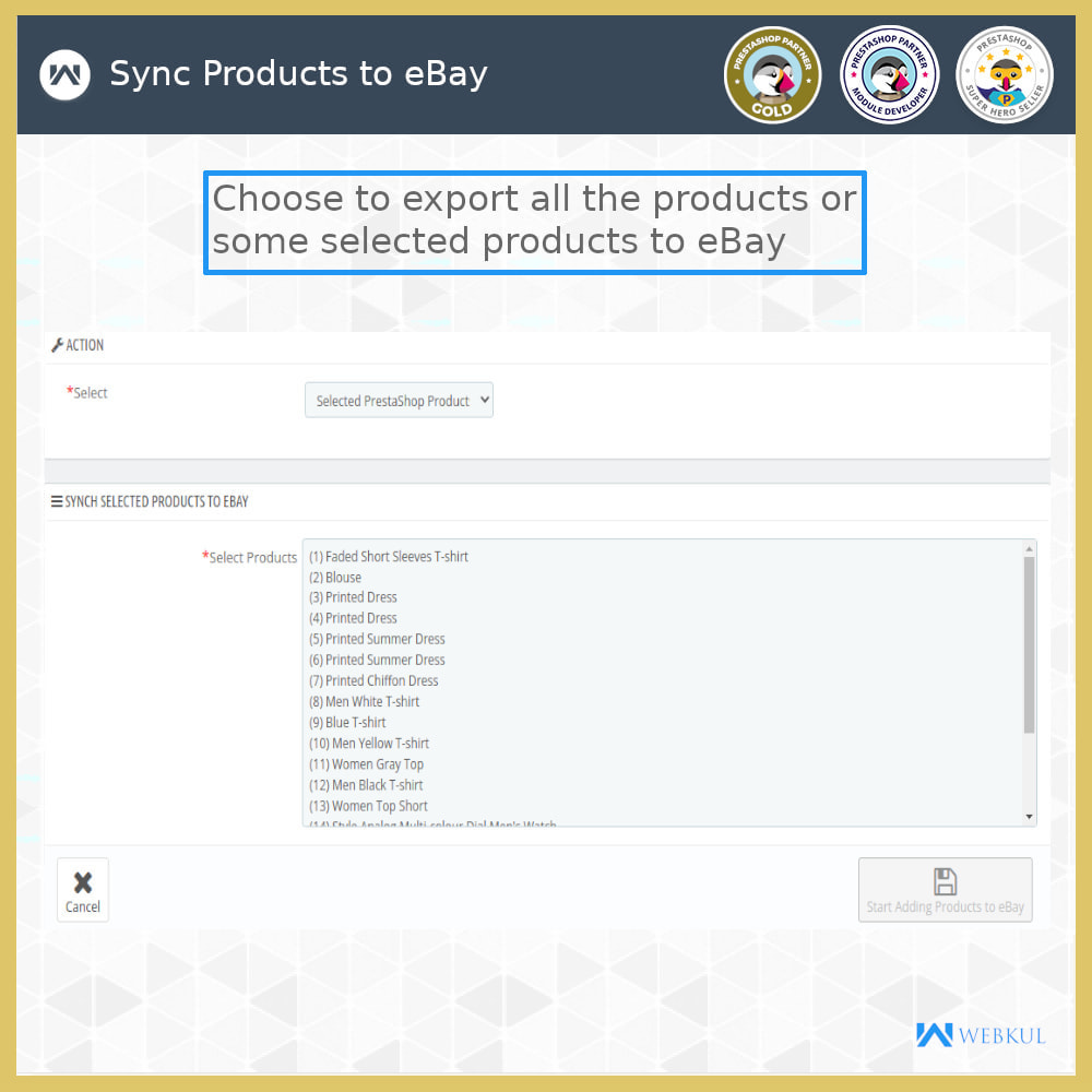 module - Marketplace - eBay Connector | Import/Export eBay Products - 14